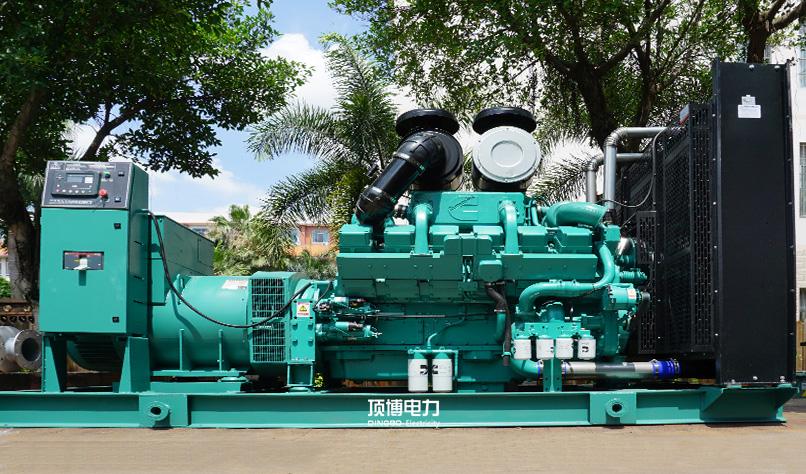 广西旺dafang地产公司2台800KW康明si柴油发电机zu