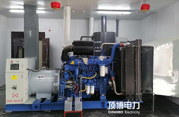 南宁肉禽集散中心两台500KW玉chaichai油发电机zu